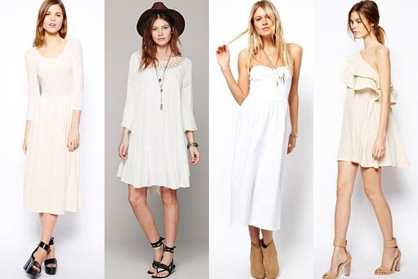 đầm trắng mang giày màu gì đẹp