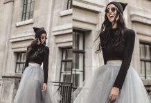 Chân váy màu xám mặc với áo màu gì đẹp