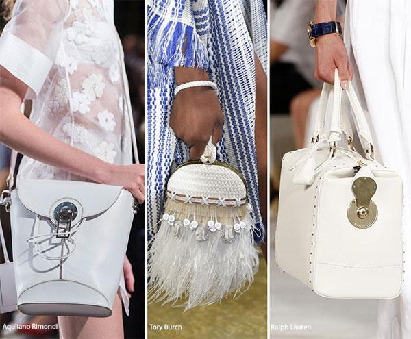 phối đồ với túi xách màu trắng